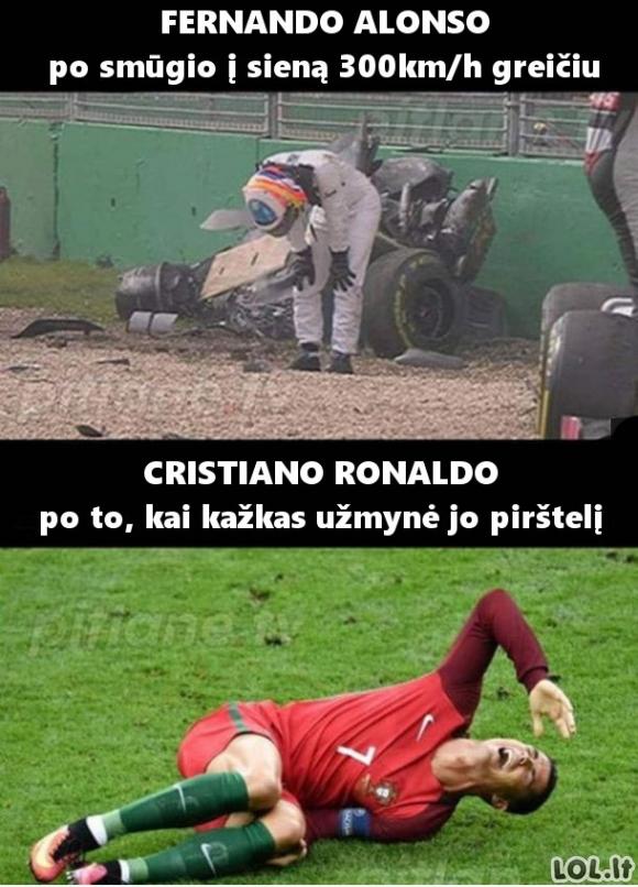 Du skirtingi sportininkų pasauliai