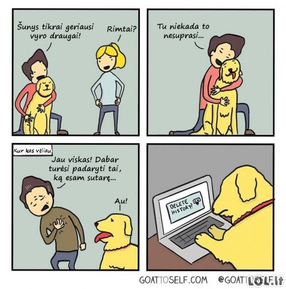 Šuo - geriausias vyro draugas
