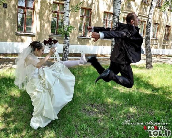 Keisčiausi kadrai iš rusiškų vestuvių [56 FOTO]