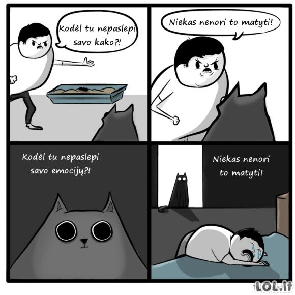 Emocingas katės šeimininkas