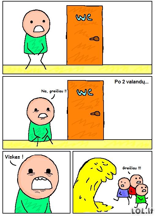 Neišlaikė prie pat durų
