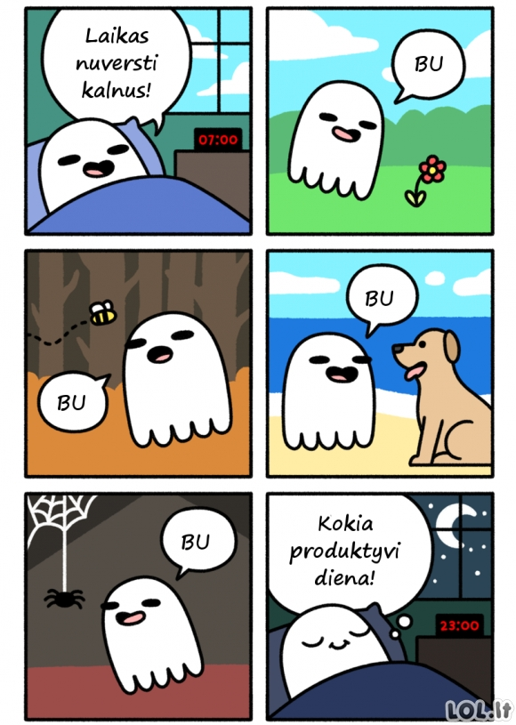 Produktyvi vaiduoklio diena