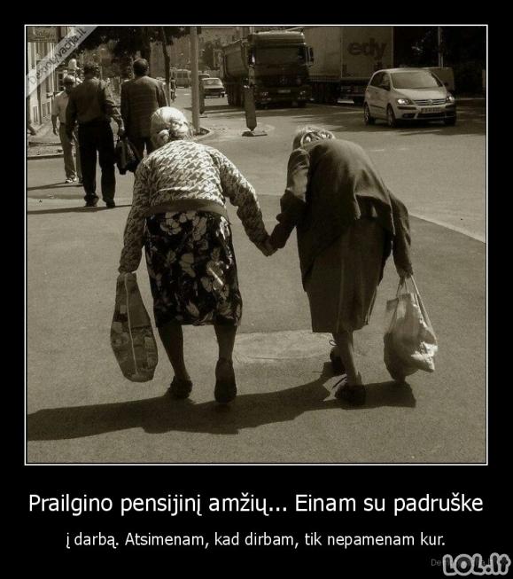 Pensininkės Lietuvoje po 50 metų