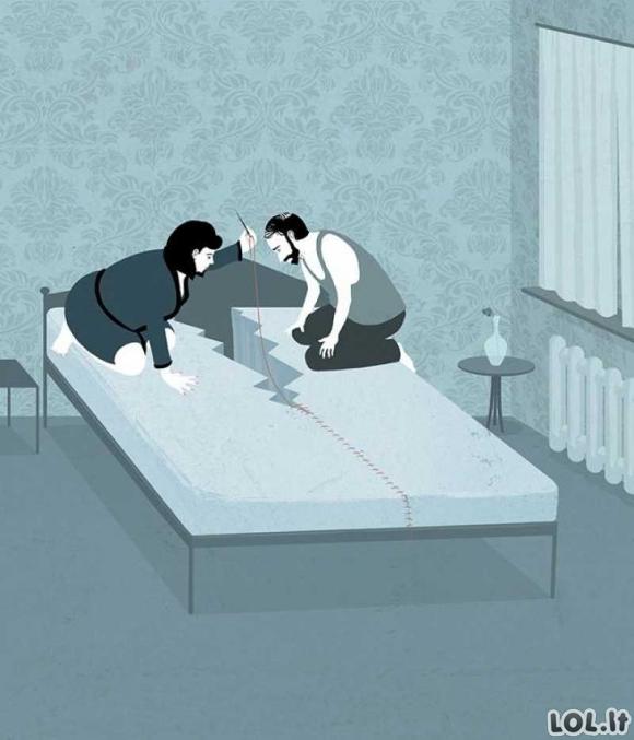 Labai taiklios iliustracijos apie mūsų gyvenimo kasdienybę