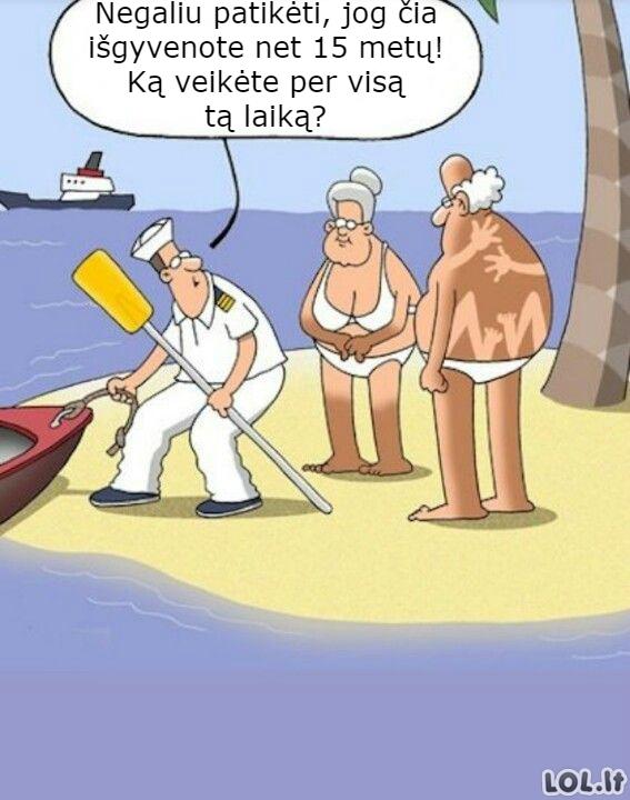 Įstrigę negyvenamoje saloje