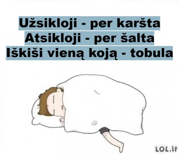 Patogiausia miegojimo pozicija