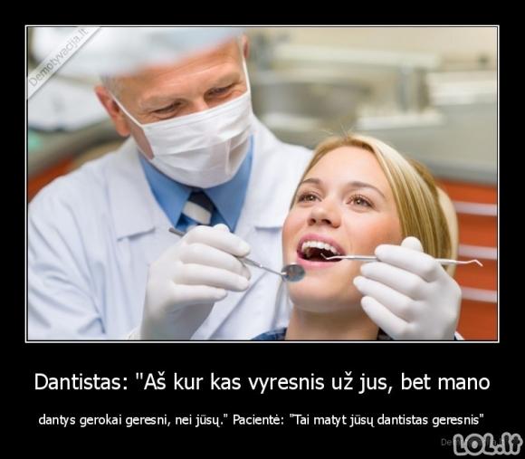 Visiškas dantisto suvartymas