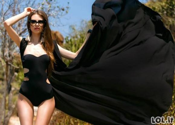 Dailios merginos ir maudymosi kostiumėliai [20 nuotraukų]