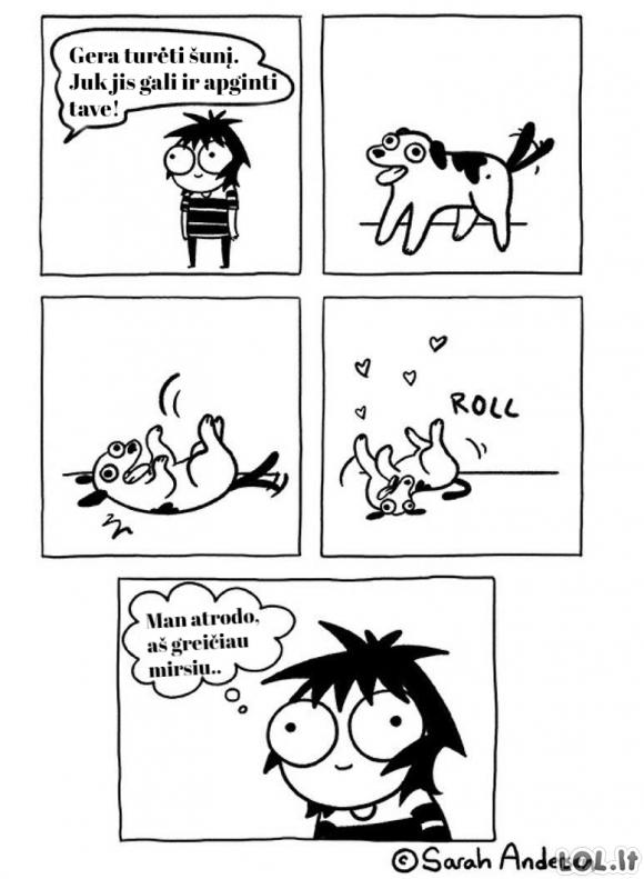 Šuo gali tave apginti