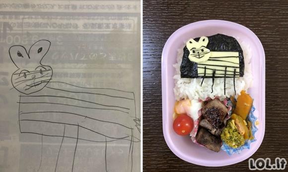 Vienas japonas gamina maistą pagal savo sūnaus piešinius [25 paveikslėliai] [REIKIA ATNAUJINIMO]