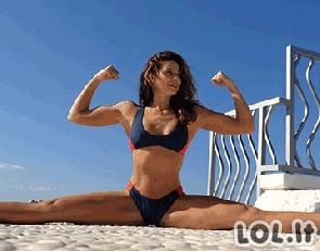 Atletiškų merginų GIF rinkinys