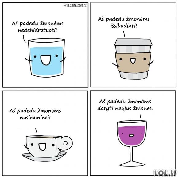 Gėrimai, kurie padeda...