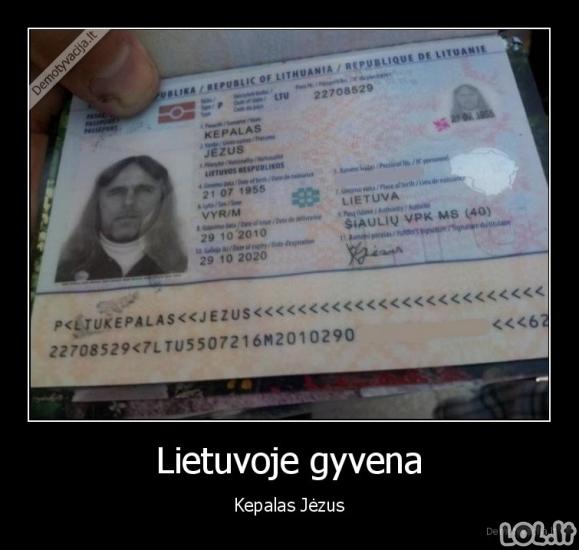 Unikalus Lietuvos pilietis