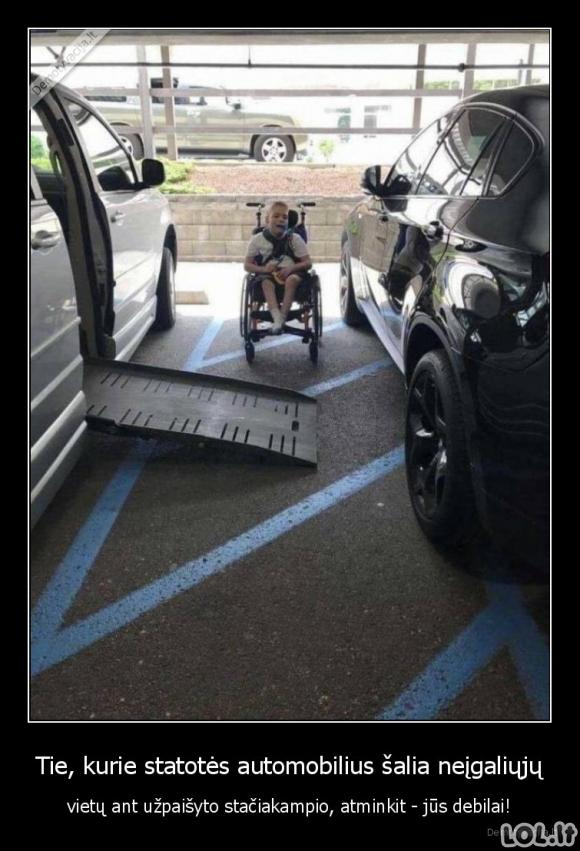 Neįgaliųjų parkavimosi vietos