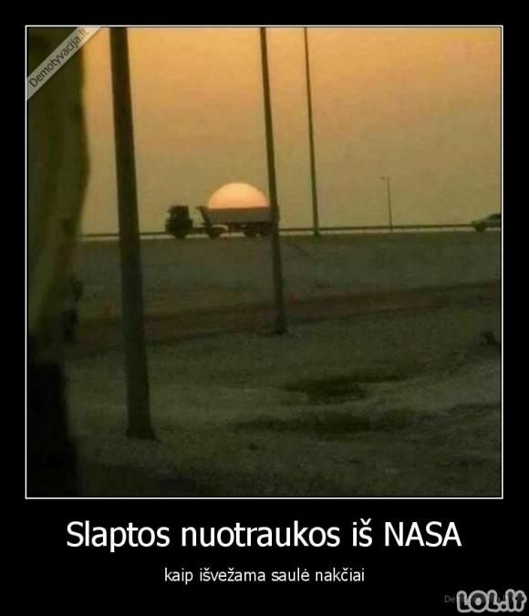 Slapta nuotrauka iš NASA
