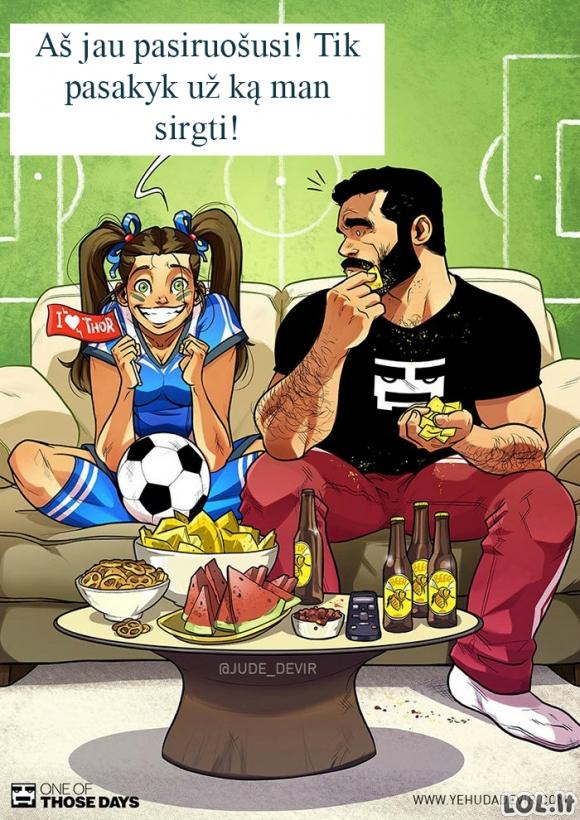 Merginos pasaulio futbolo čempionato metu