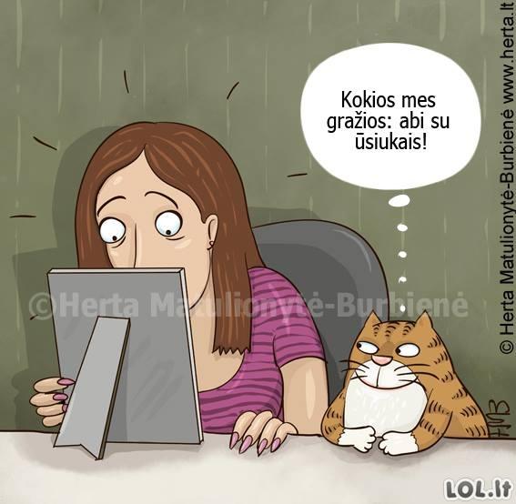 Katė džiaugiasi panašumais