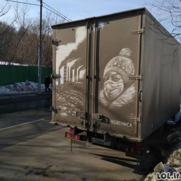 Menas ant purvinų automobilių (18 foto)