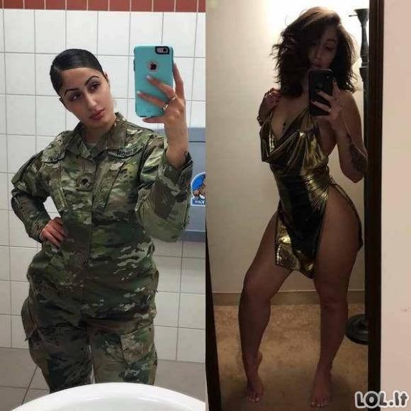 Žavios uniformuotos merginos (29 nuotraukos)