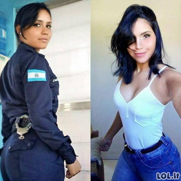 Dailios merginos su uniformomis ir be jų (24 foto)