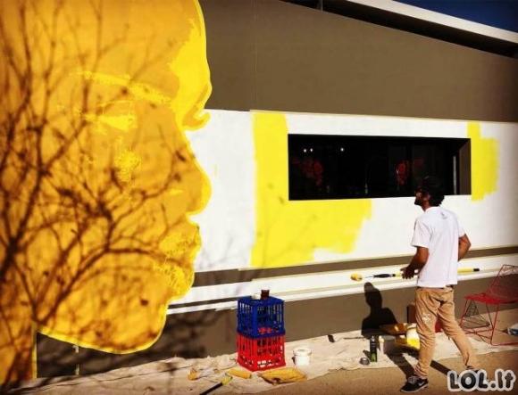 Kaip buvo sukurtas išties gražus gatvės menas (10 proceso nuotraukų)