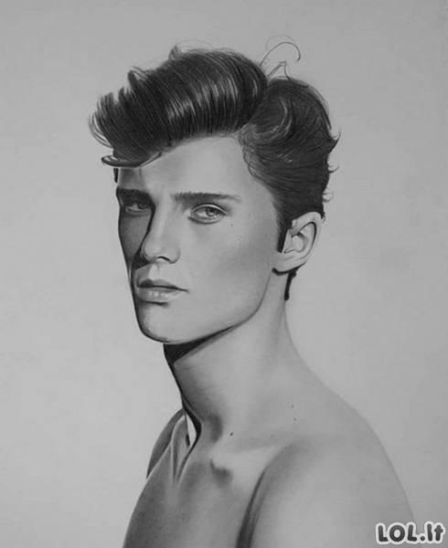 Neįtikėtinas talentas, kuris piešia be rankų