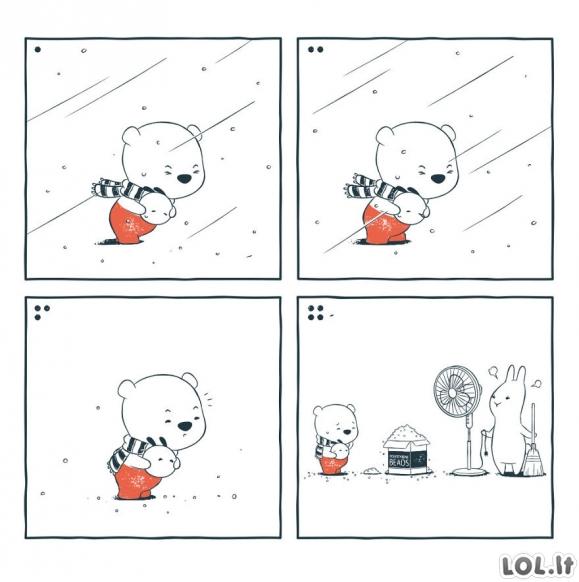 Labai linksmi ir mieli komiksai be žodžių (21 paveikslėlis)