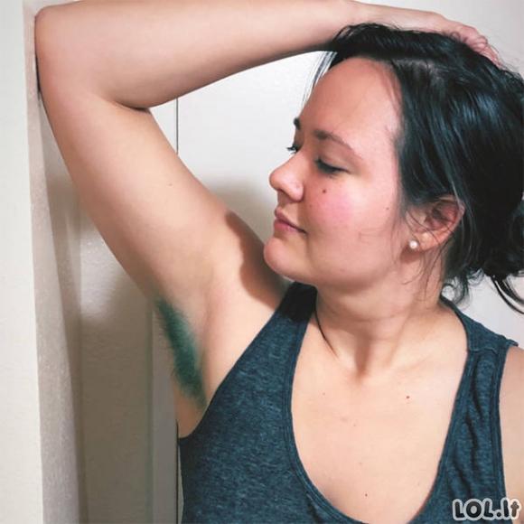 Spalvoti pažastų plaukai – naujas mados klyksmas. FOTO GALERIJA [19 FOTO]