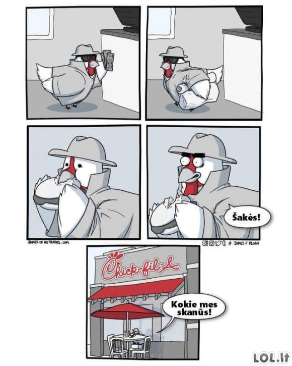 Viščiukas restorane