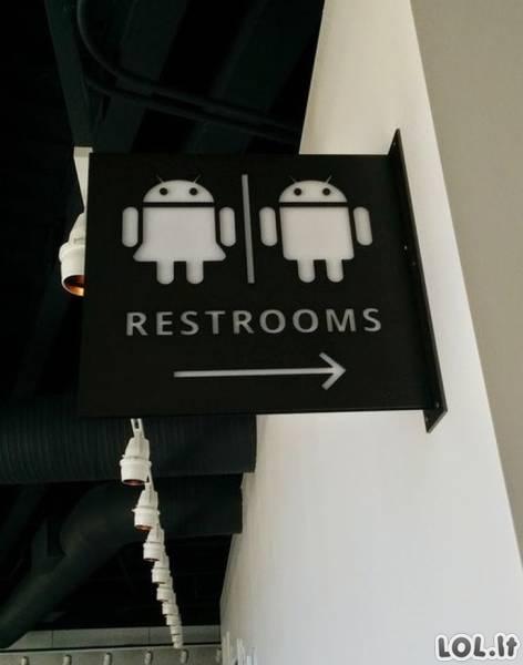 Išradingiausi tualetų žymėjimai