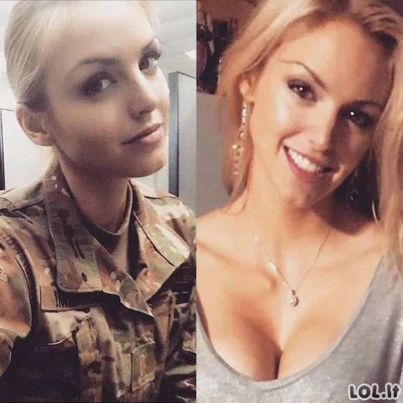 Žavios merginos su uniforma ir be jos [26 nuotraukos]