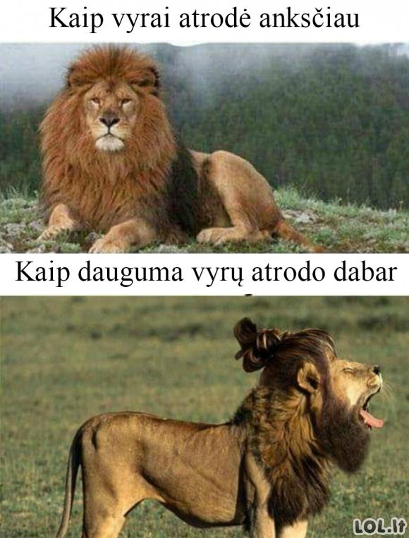 Vyrai anksčiau ir dabar