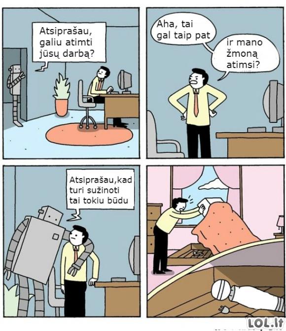 Robotai užvaldo pasaulį