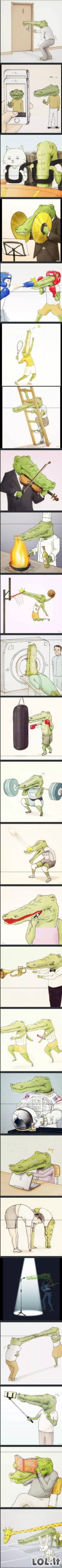 Sunkus krokodilo gyvenimas