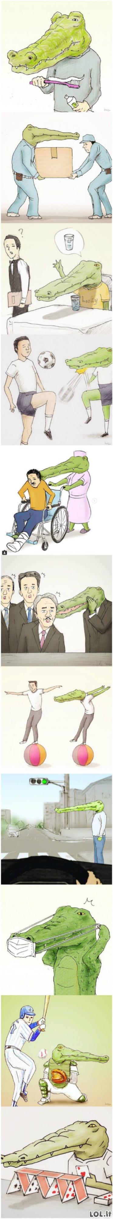 Sunkus krokodilo gyvenimas II dalis