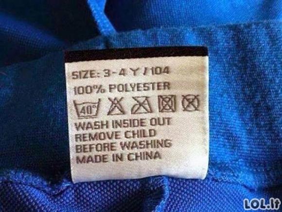 Linksmi užrašai ant drabužių etikečių [en] (20 foto)