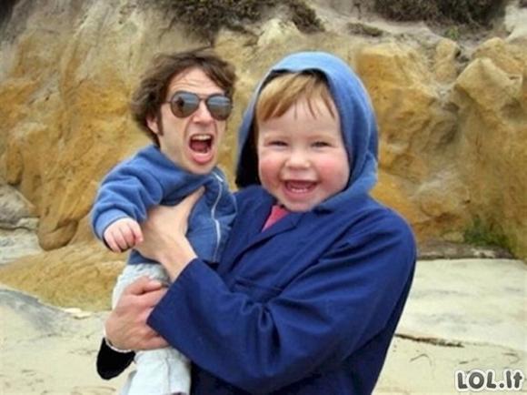 Tėvai apsikeičia veidais su savo vaikais (20 nuotraukų)