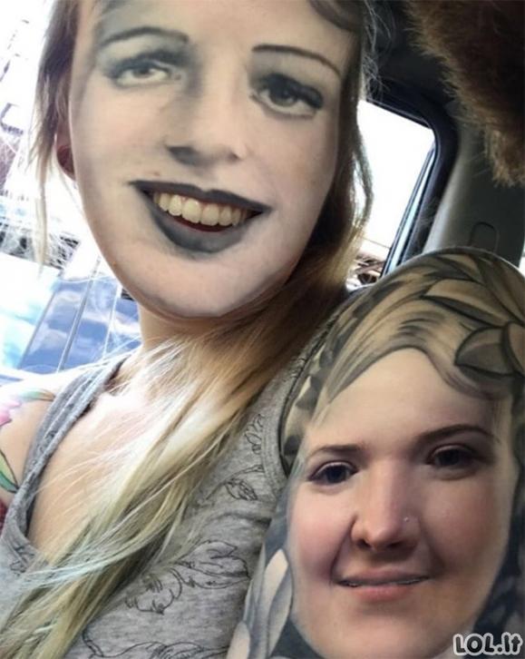 Kažkas nenormalaus: Tatuiruočių apkeitimai su veidais (19 nuotraukų)