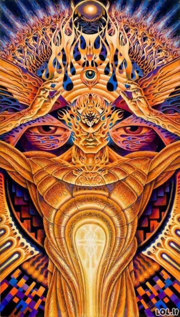Štai kokius vaizdus gali pamatyti LSD padedamas [GALERIJA]