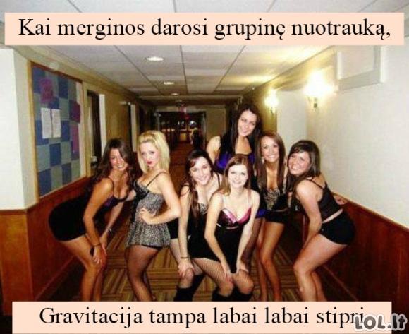 Merginos ir gravitacija