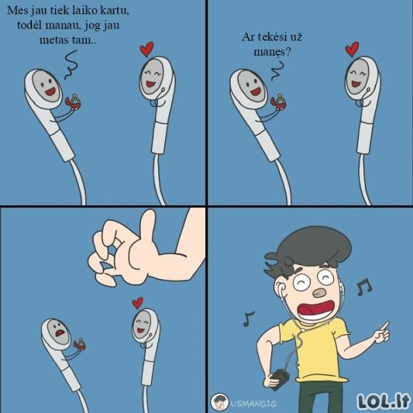 Jei ausinės turėtų jausmus