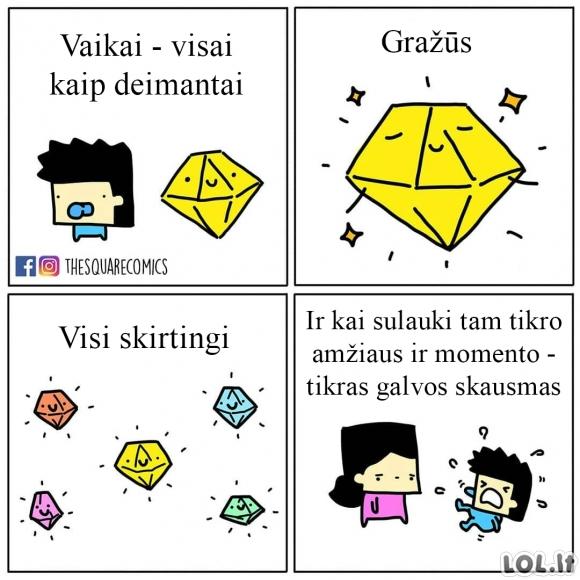 Vaikai - kaip deimantai
