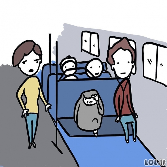 Krepšys užima vietą autobuse