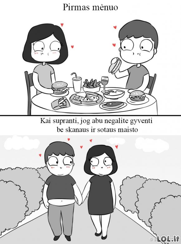 Santykių privalumas mėgstantiems pavalgyti