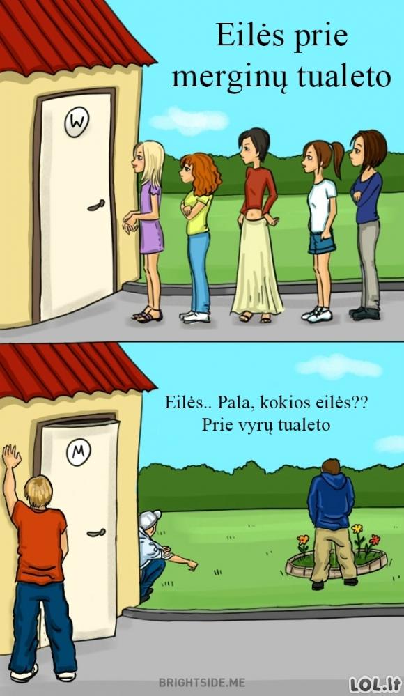 Eilės prie tualetų