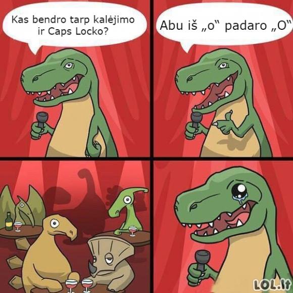 Dinozauro stand-upas