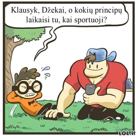 Principų laikymasis sporto metu