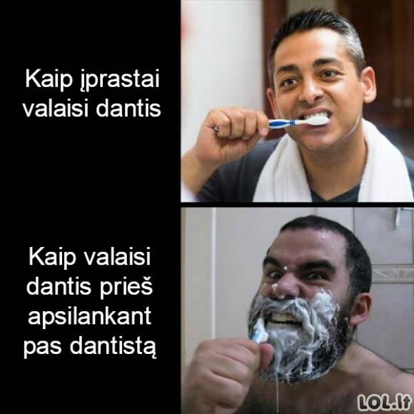 Prieš apsilankant pas dantistą