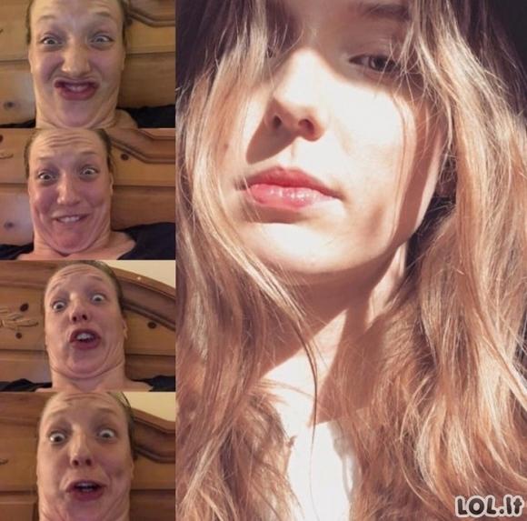 Merginų veido išraiška pakeičia visą jų įvaizdį (32 nuotraukos)