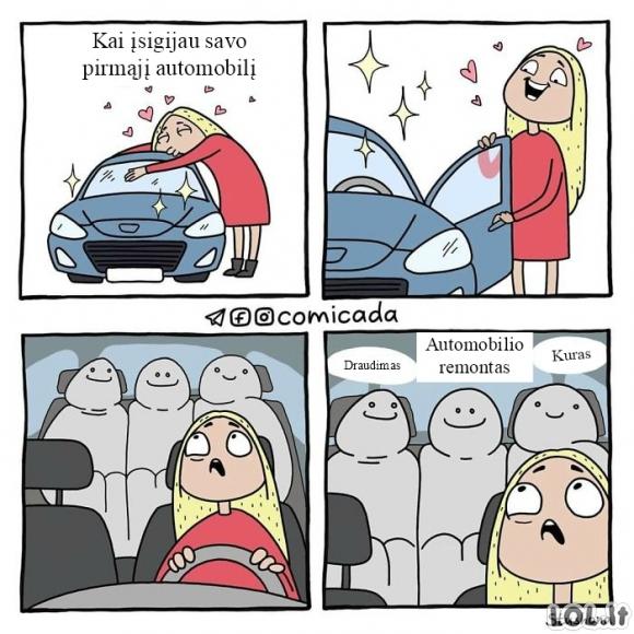 Kai įsigyji automobilį